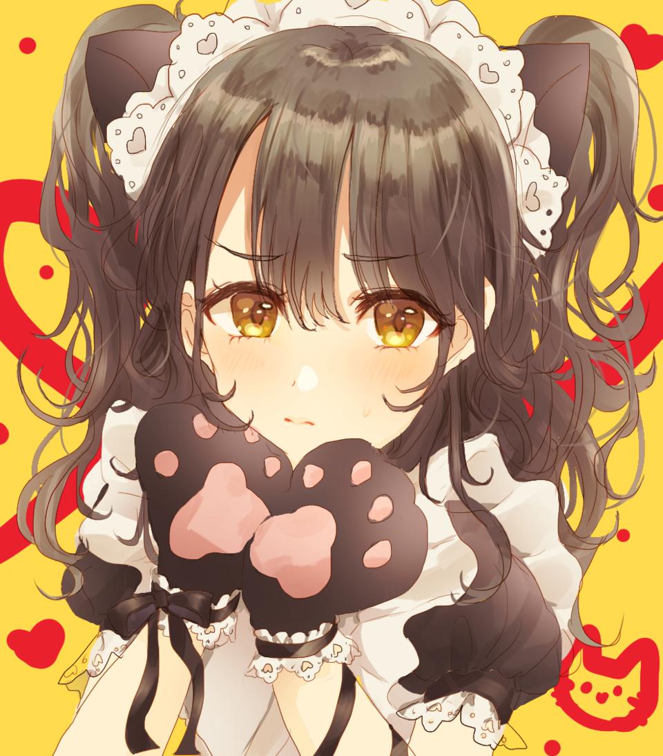 ネコメイド Illust of Peach☆Punch メイド服 girl cat_ears