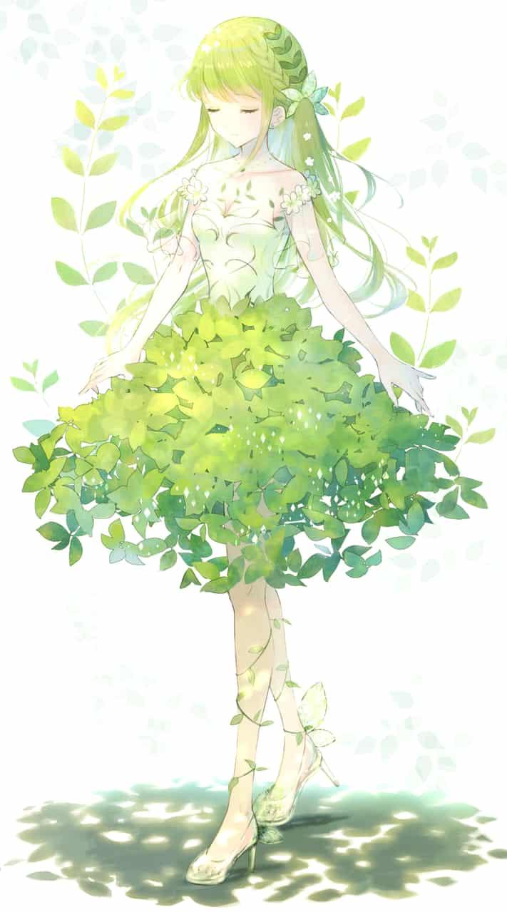 木漏れ日ドレス Illust of もふ April.2020Contest:Color ARTstreet_Ranking dress oc girl original nature
