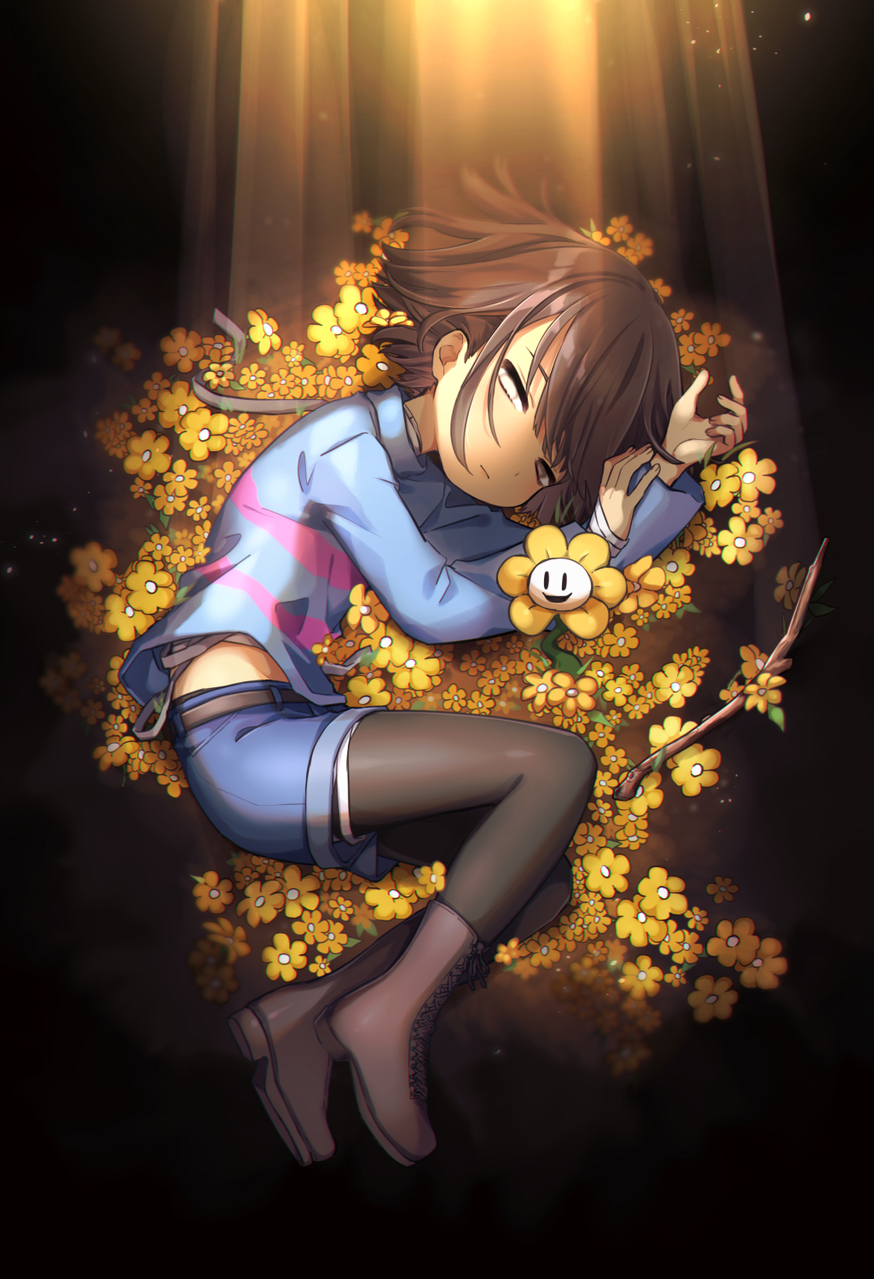 金の花 Illust of 篠谷すみっこ Frisk fanfic Flowey undertale