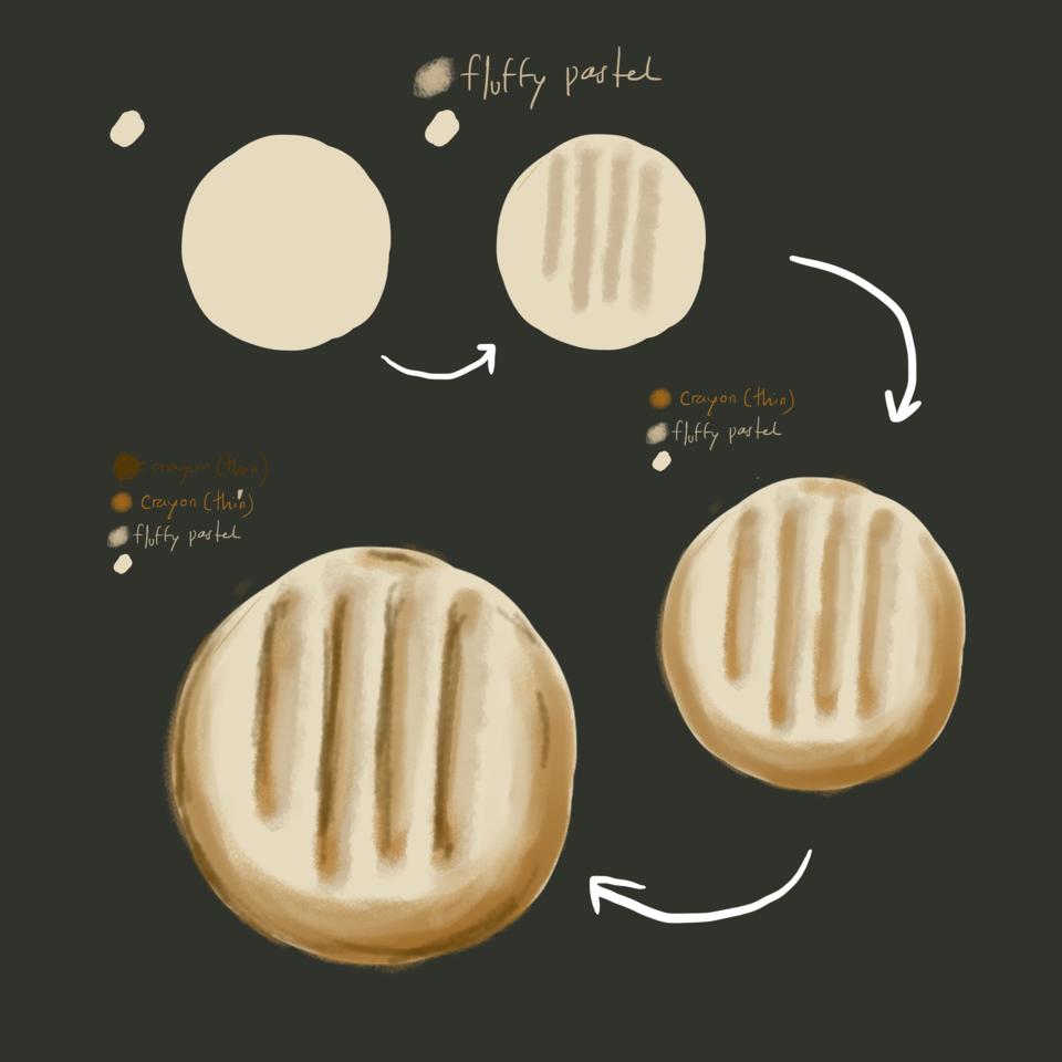 Butter Cookies (Painting Tutorial) Illust of Andinatz medibangpaint tutorial illustration Nice cute Cookies food