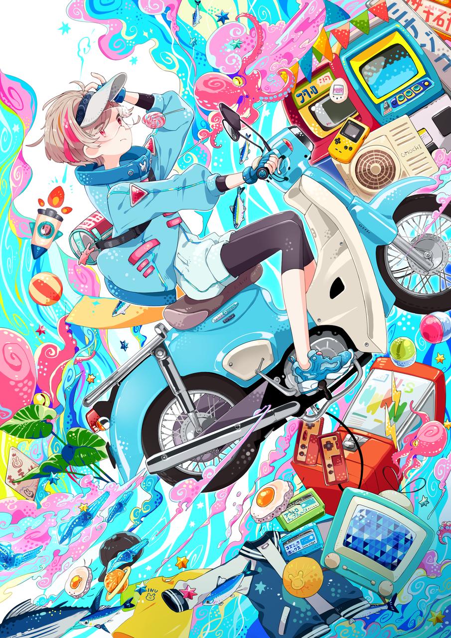 未来旅行 Illust of 餅村そらた Original_Illustration_Contest サブカルチャー motorbike