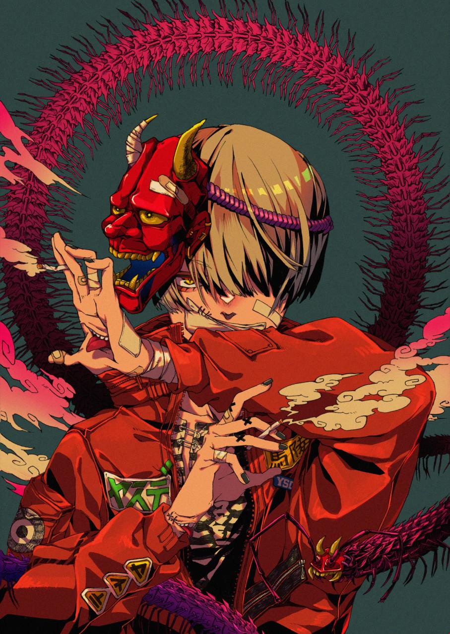 馬陸 Illust of 海月いまり アナログ insect Japanese_style boy line_art うちの子 アニメ塗り oc original illustration