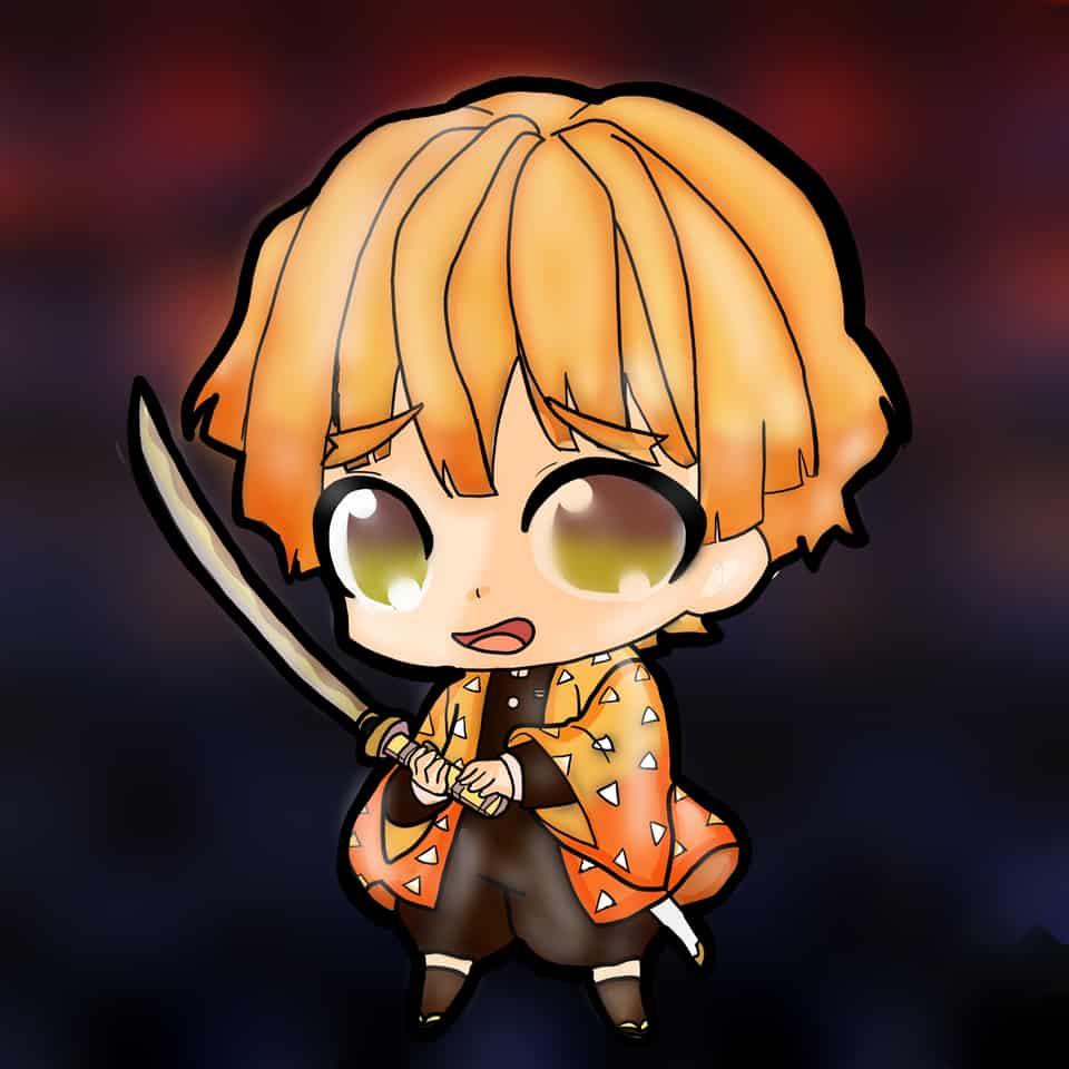 Chibi Zenitsu Illust of Namster ARTstreet_Ranking DemonSlayerFanartContest demonslayeroc KimetsunoYaiba AgatsumaZenitsu