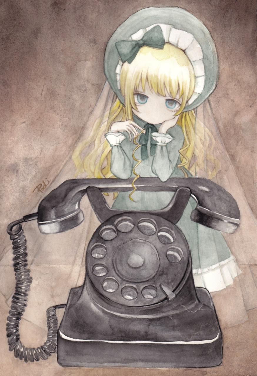 忘れられた数字 Illust of ぱぴぷぺ ぽち blonde レトロ 黒電話 透明水彩