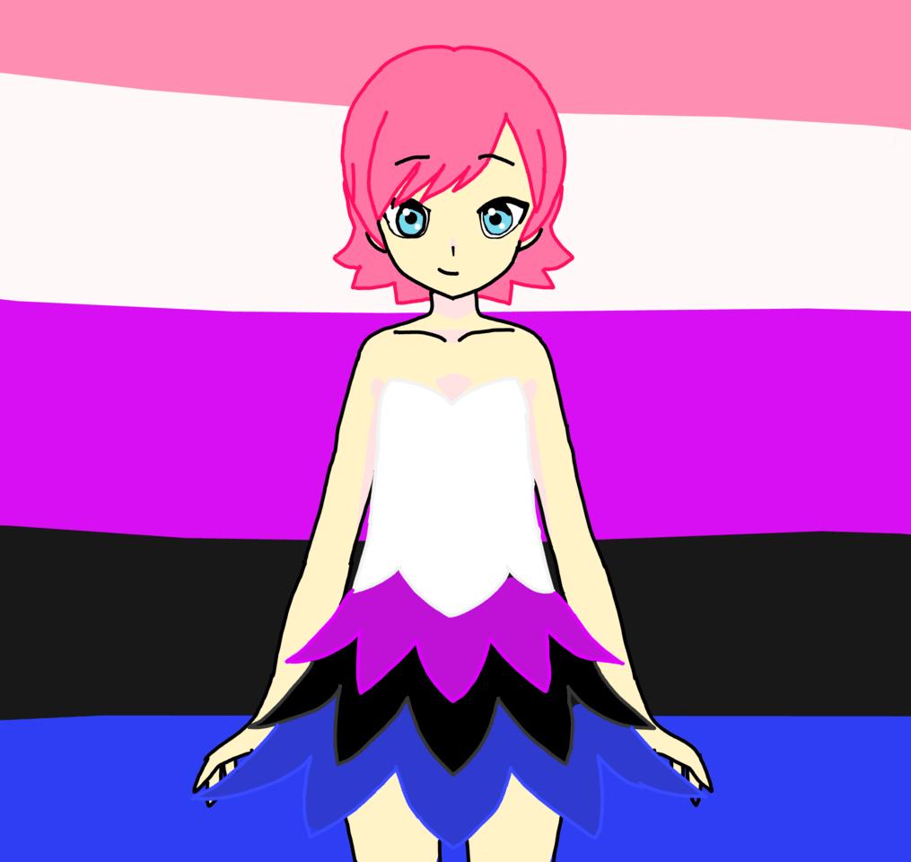 Happy Pride Month (Gender Fluid) Illust of 🐻WinterSkyblue🐻IsLoca😝🤪 love Fluid anime genderfluid Pride pride cute pridemonth LGBTQ+ Genderfluid