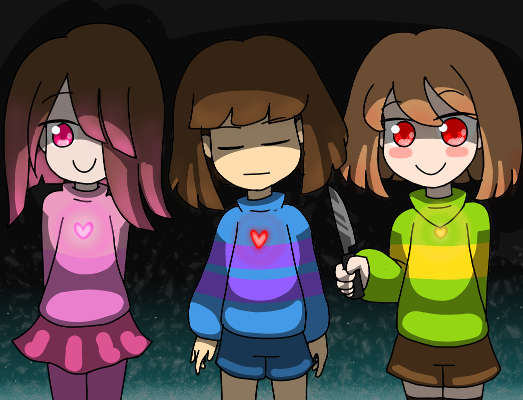 Betty, Frisk, and Chara (#UwU#)