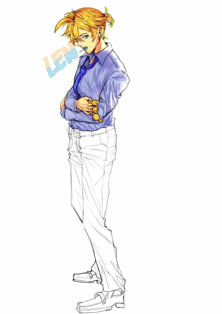Kagamine len Illust of 『Suna』 KagamineLen VOCALOID vocaloidfanart anime