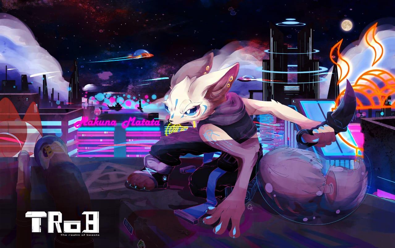 Cyberpunk Illust of INU January2021_Contest:OC February2021_Fantasy