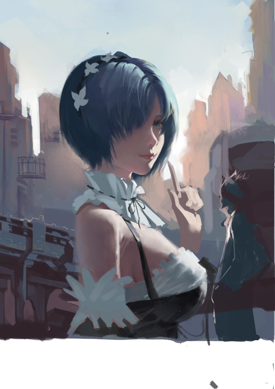 蕾姆 Illust of b站cm羊 medibangpaint Rem Re:Zero