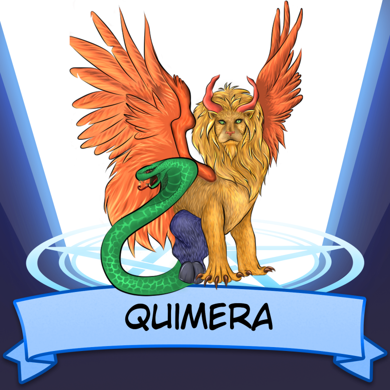 Quimera Illust of BloodCh snake art SoBadItsGood work Lion medibangpaint quimera mythical fly