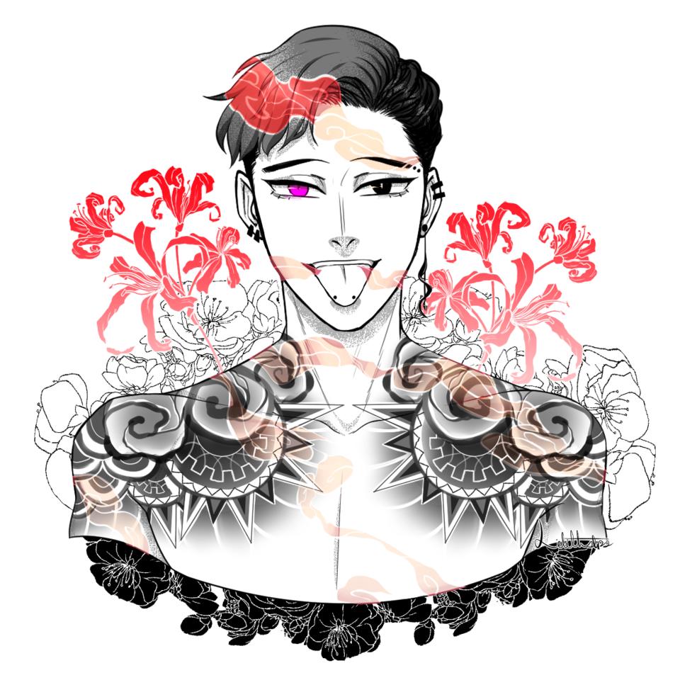 Breathe Illust of Somnvari fantasy digital myoc oc illustration MyArt flowers