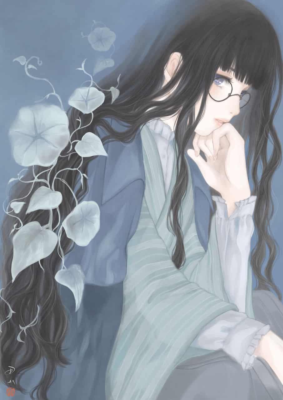 小夜すがら Illust of 丑山雨 glasses メディバン 書生服 iPad medibangpaint 黒髪 夜顔 男装