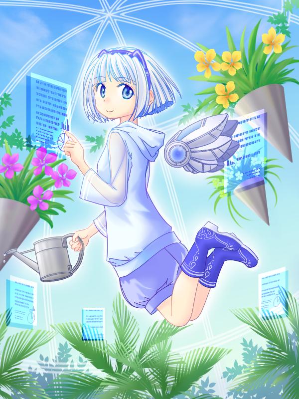 空中庭園 Illust of hanauta sci-fi medibangpaint メカ 植物 girl 温室 girl,