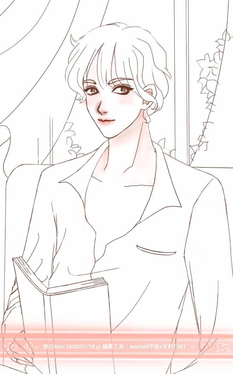 圖:2020/07/28 隨意畫(線稿+局部上色)  Illust of cchenju(迷尼Mini) MyIdealWaifu_MyIdealHusbandoContest MyIdealHusbando boy 男 male