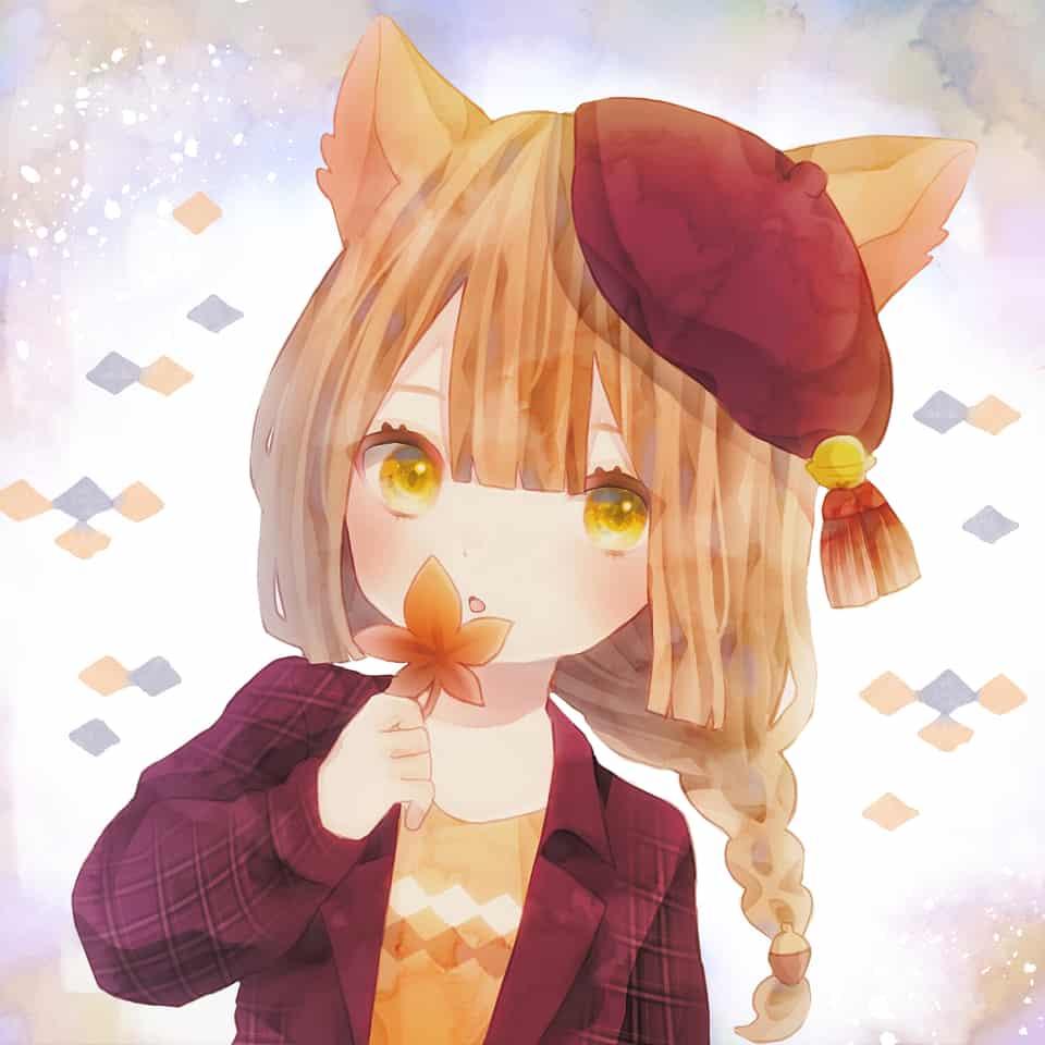 秋のキツネ Illust of ねこやま✤ original girl freeprofilepic autumn oc 三つ編み fox フリーアイコン