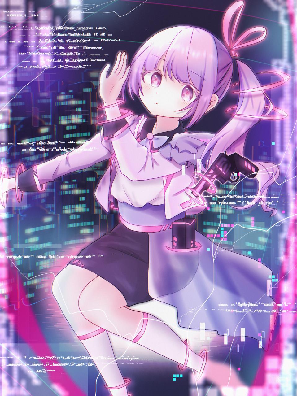 サイバーパンク少女 Illust of みみ November2020_Contest:Cyberpunk oc girl cyberpunk サイバー