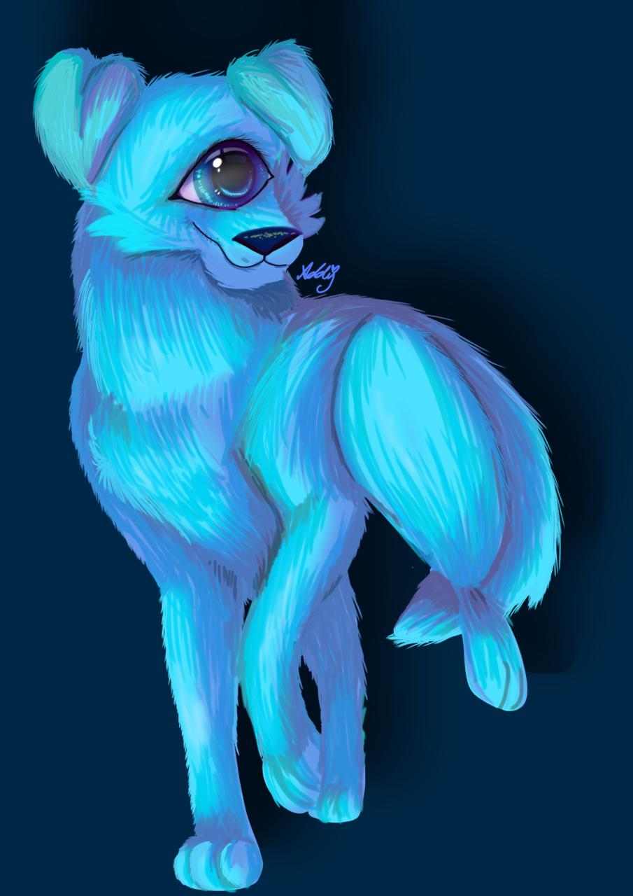 mascota AmongUs  Illust of Addy🌸 medibangpaint mascota AmongUs azul alienigena