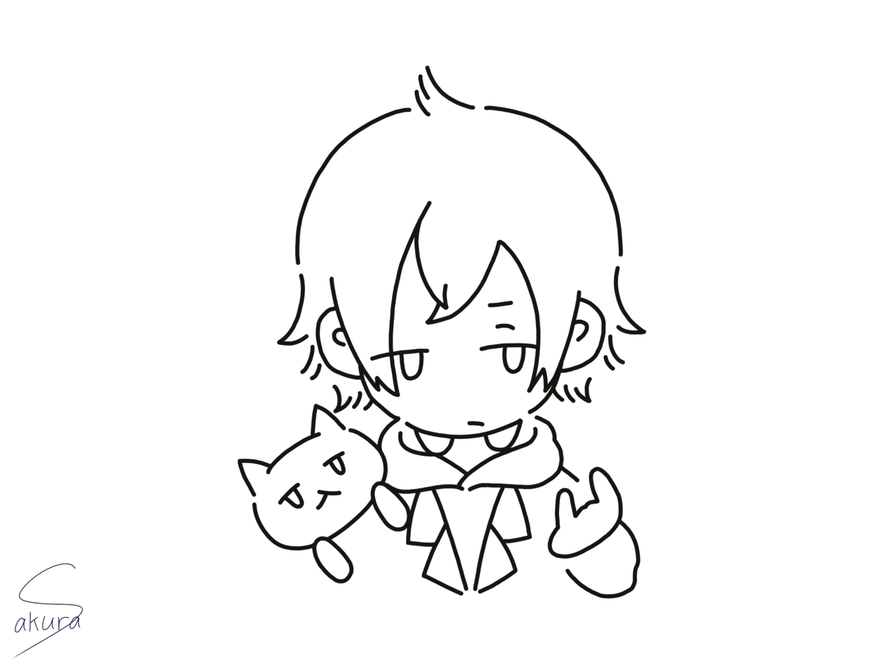 Gero Illust of 桜 宮美/サブ Gero line_art 桜宮美