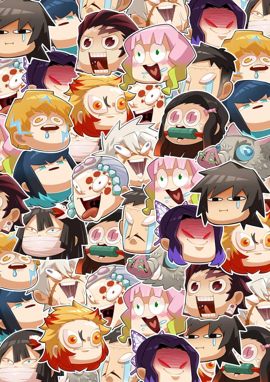 Demon Slayer Faces Illust of Kengabr王 Artwork art KimetsunoYaiba digital