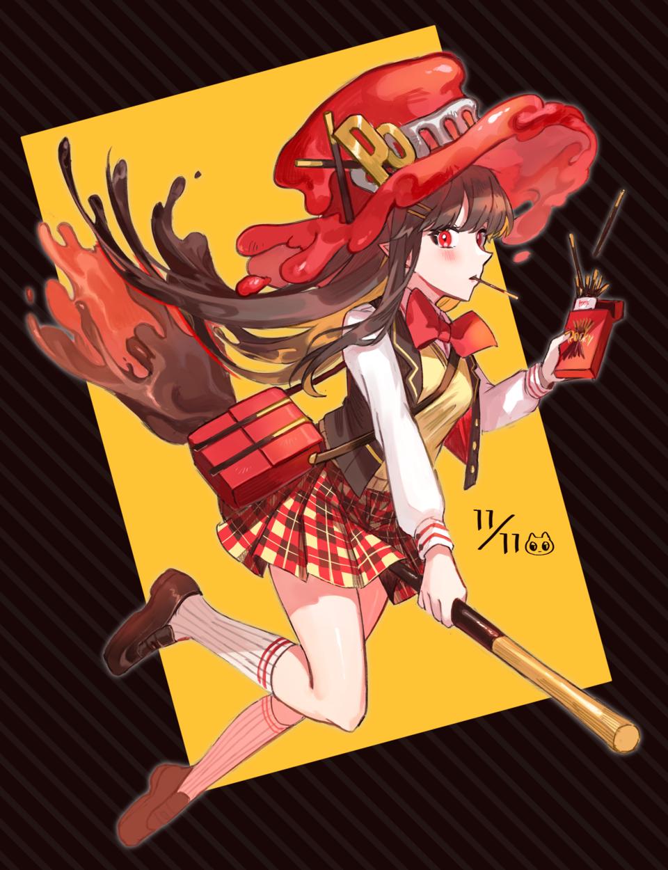 1111 Illust of 四鈴あざな medibangpaint original witch girl ポッキーの日