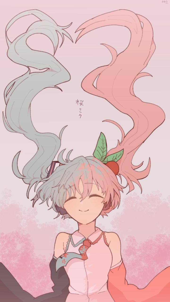 桜ミク Illust of Ba7 medibangpaint 桜ミク hatsunemiku