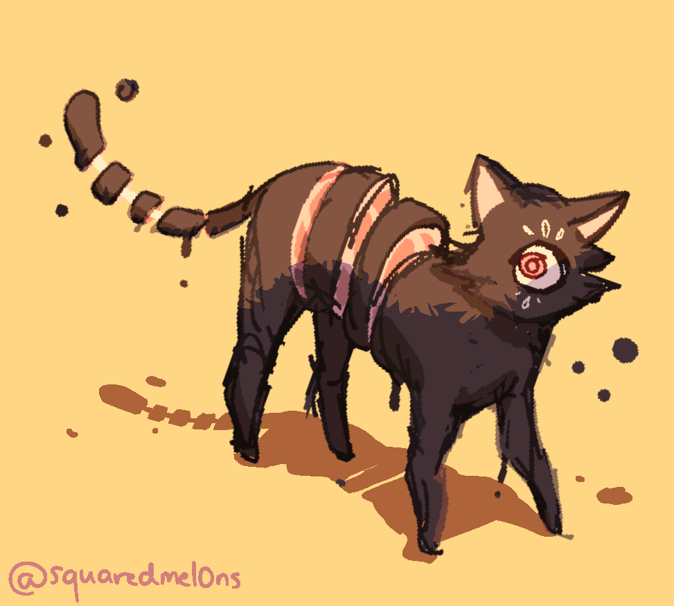 meat cat Illust of hatsei mellonart medibangpaint oc
