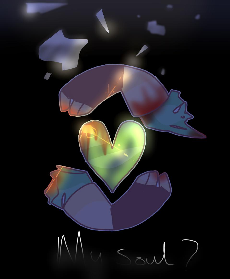 my soul? Illust of mint mochi medibangpaint AU story oc