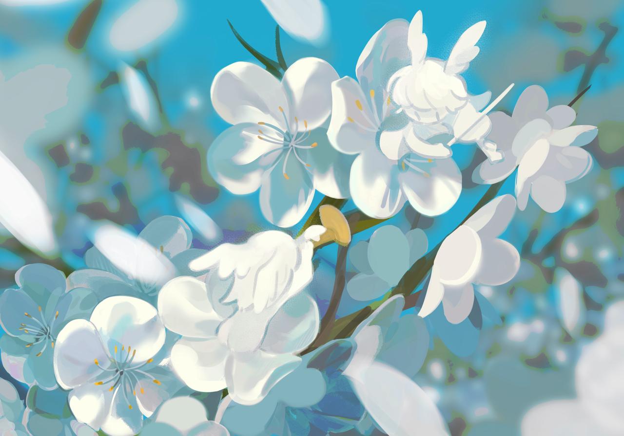 春風が吹く時 Illust of 香槟树 April2021_Flower sakura