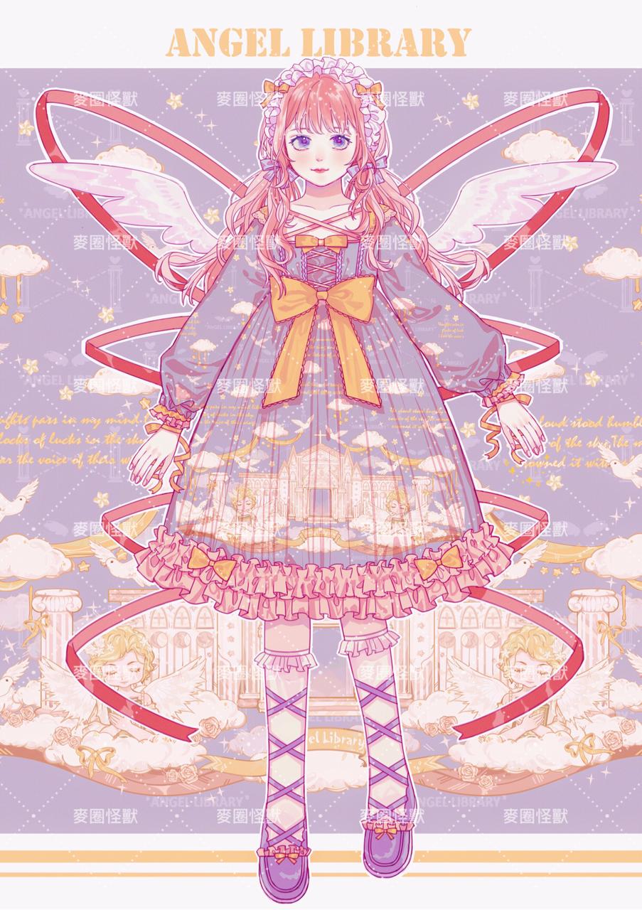 天使图书馆的明信片! Illust of 咕咕咕 洛丽塔 medibangpaint 天使图书馆 Lolita