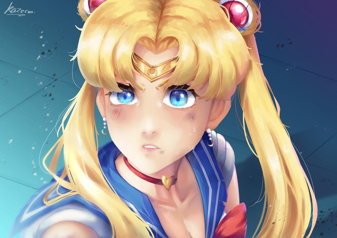 Sailor Moon Redraw Illust of Kazecoo anime illustration sailormoonredraw digital art PrettyGuardianSailorMoon