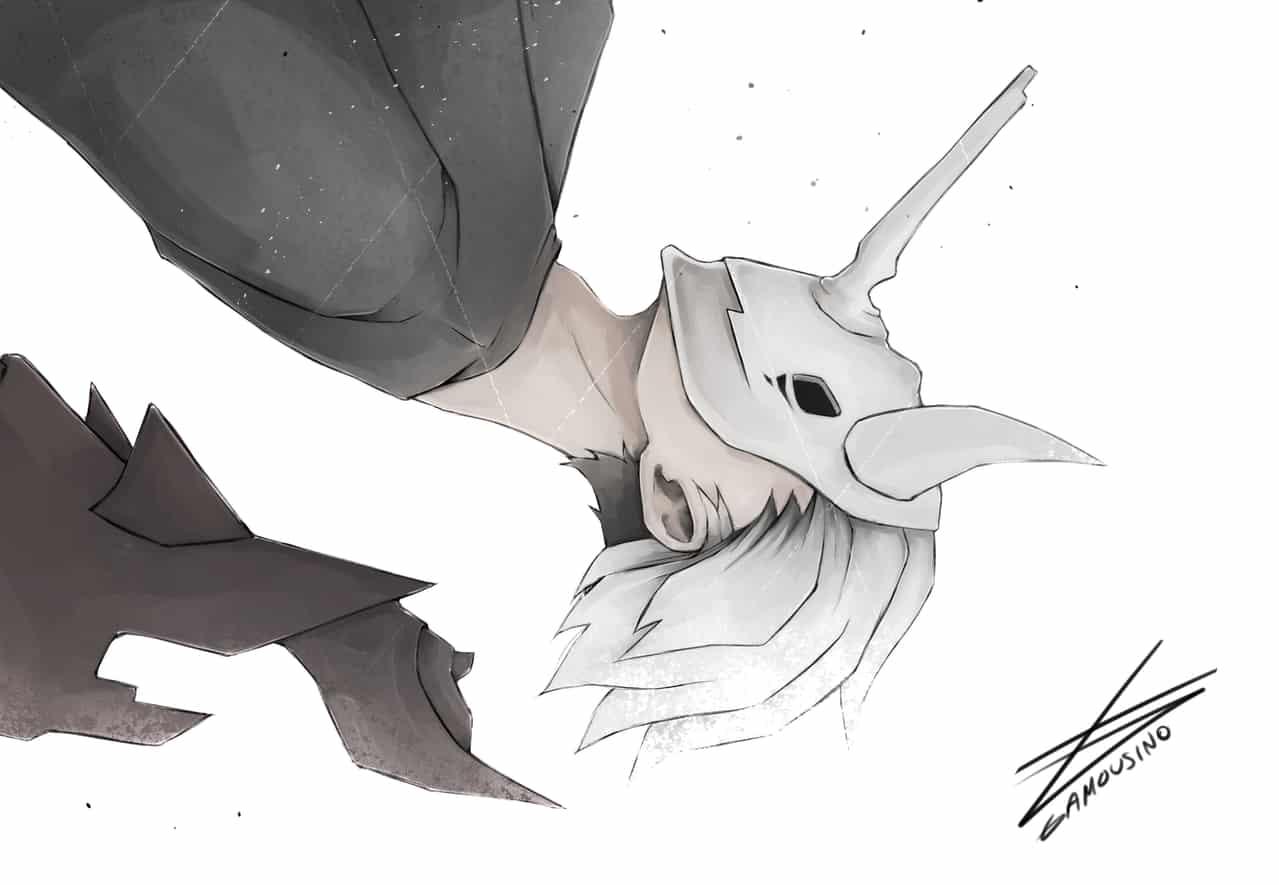 Ayumu Illust of Gamousino manga illustration digital anime