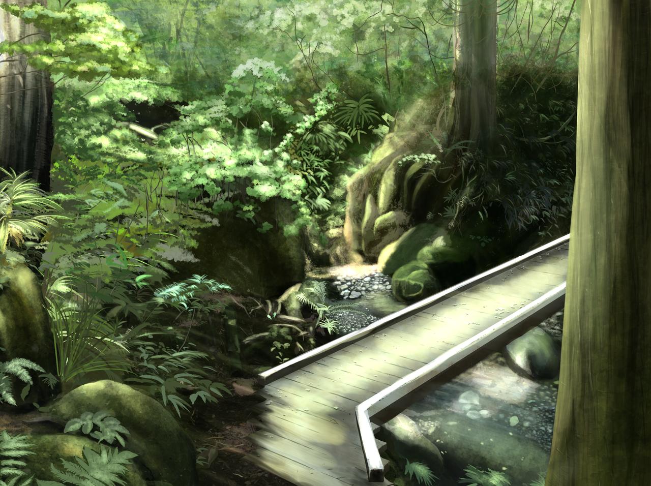 企業向けイラスト練習6 Illust of kakeru medibangpaint background forest 長野県 戸隠