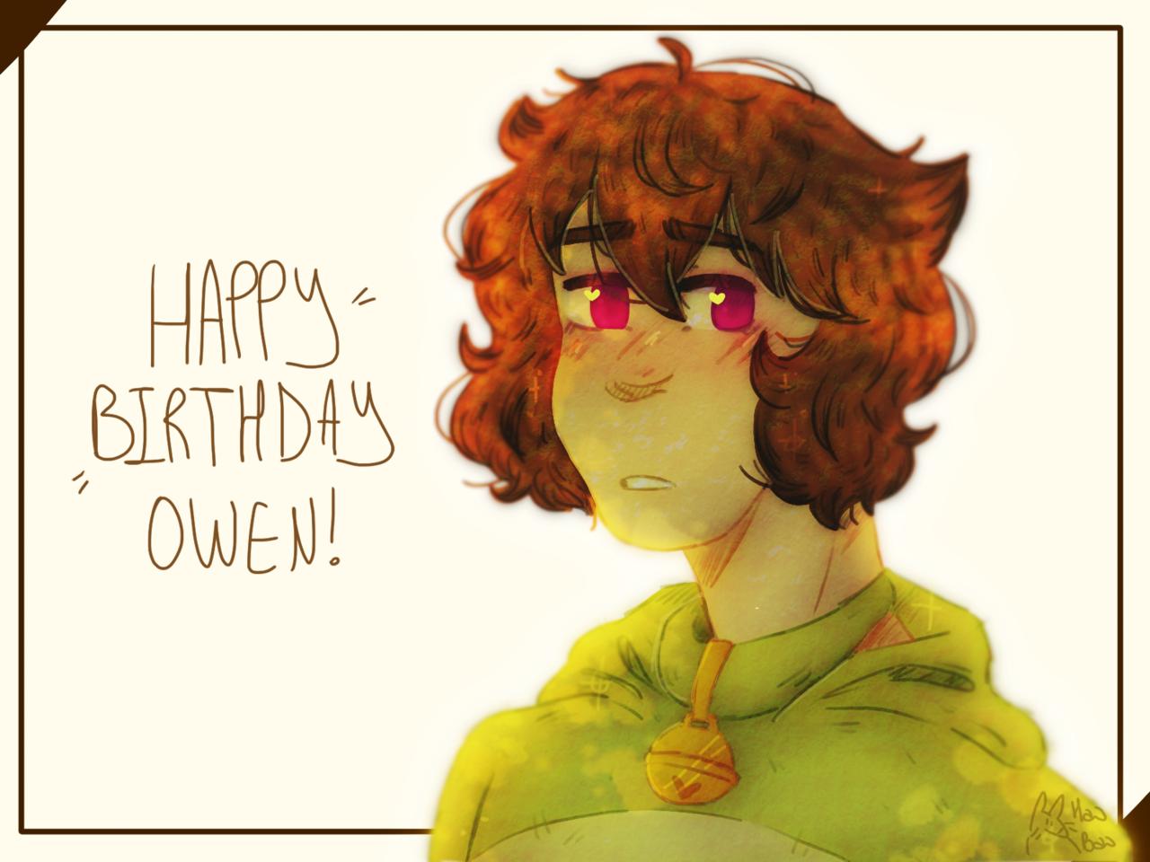 happy birthday you moss loving little goblin Illust of Aori doodle gift