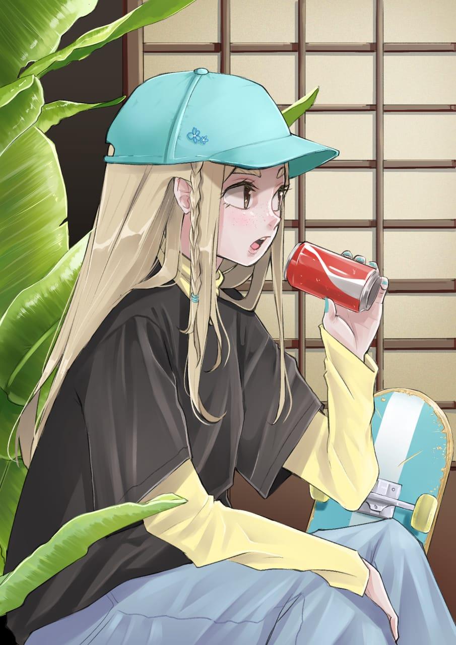 Skater Girl  Illust of Chobi September2021_Girl oc girl original
