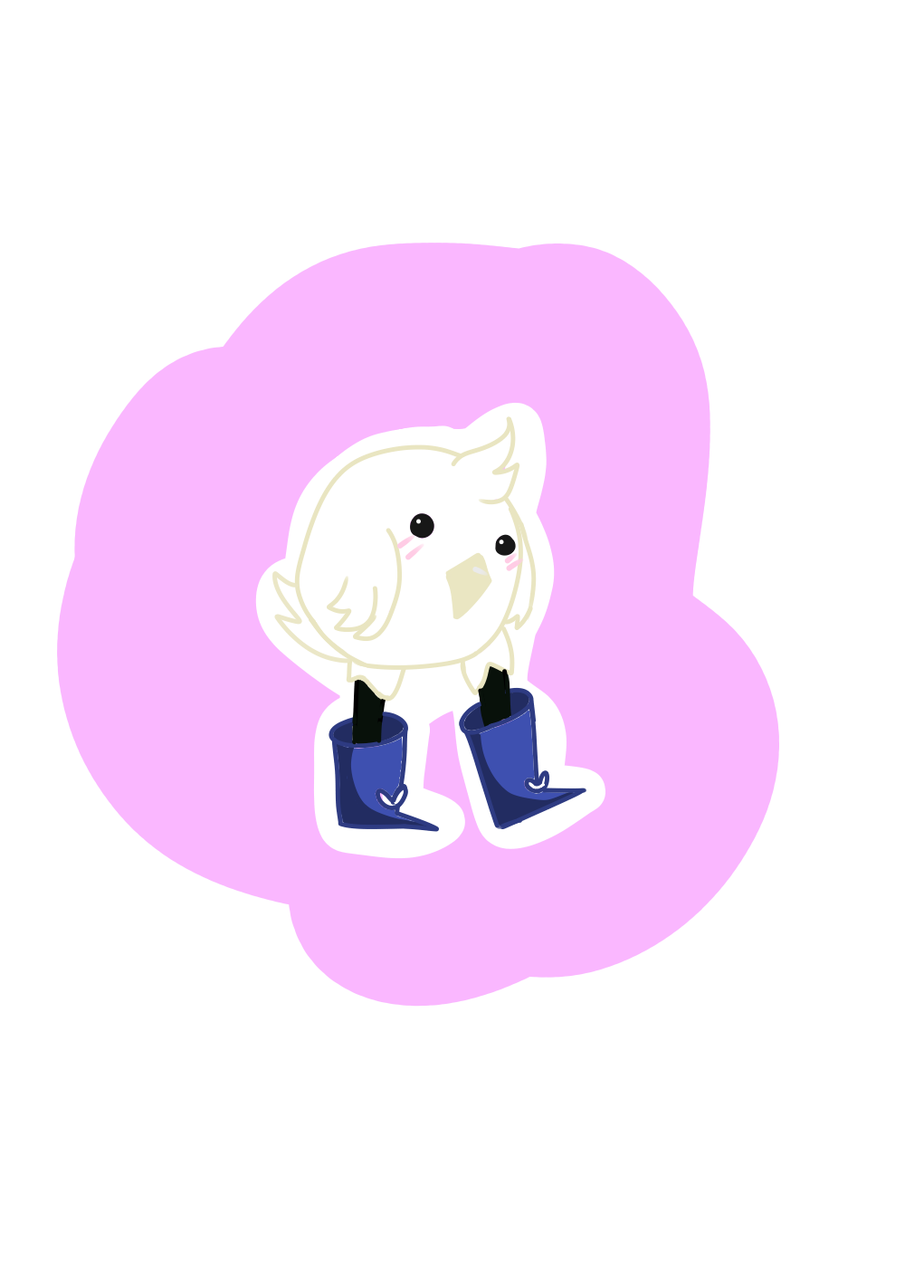 Profile pic candidate?? Illust of Paper medibangpaint bored boots lazy borb