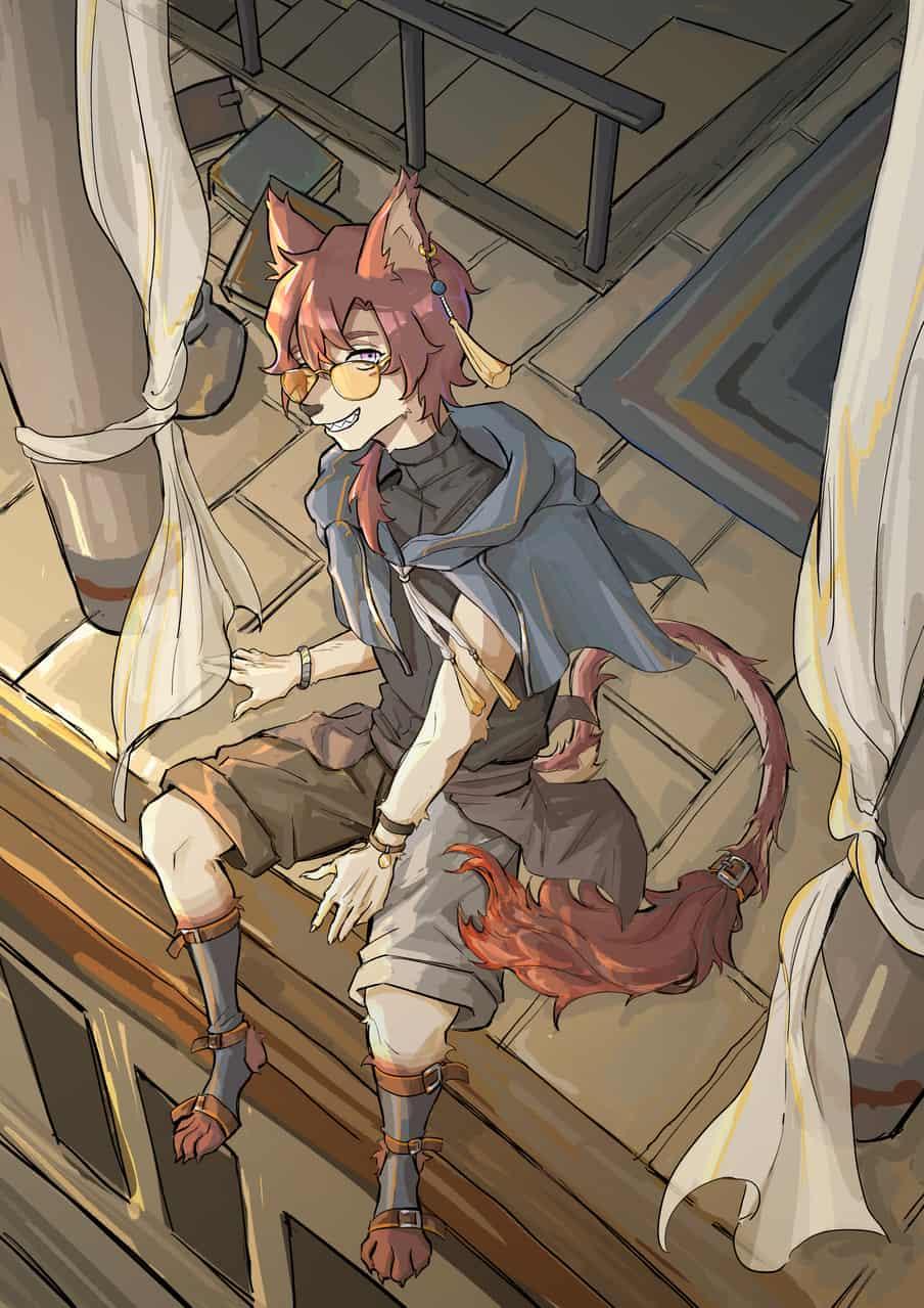 Lion 唐狮子 Illust of 礼 September2020_Contest:Furry illustration 獣人 furry medibangpaint cat oc