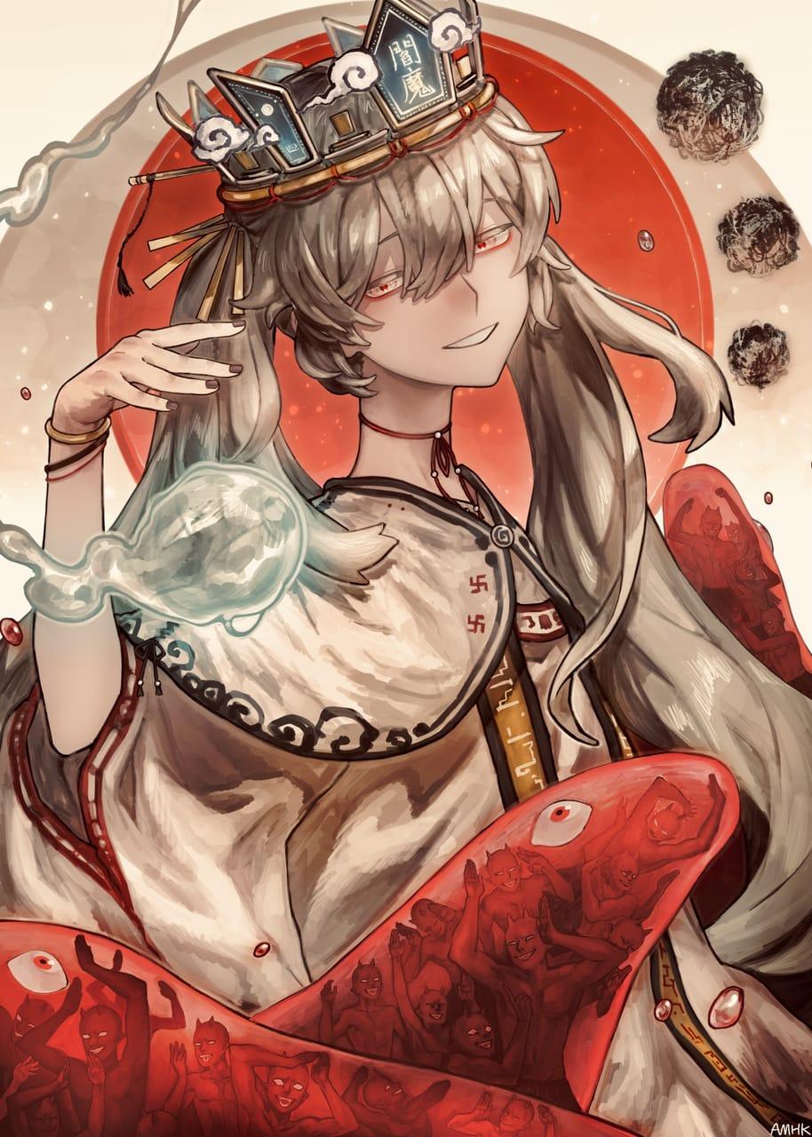 『地獄はどこですエンマさま』 Illust of あまひき VOCALOID painting 地獄 ボカロ曲 hatsunemiku procreate