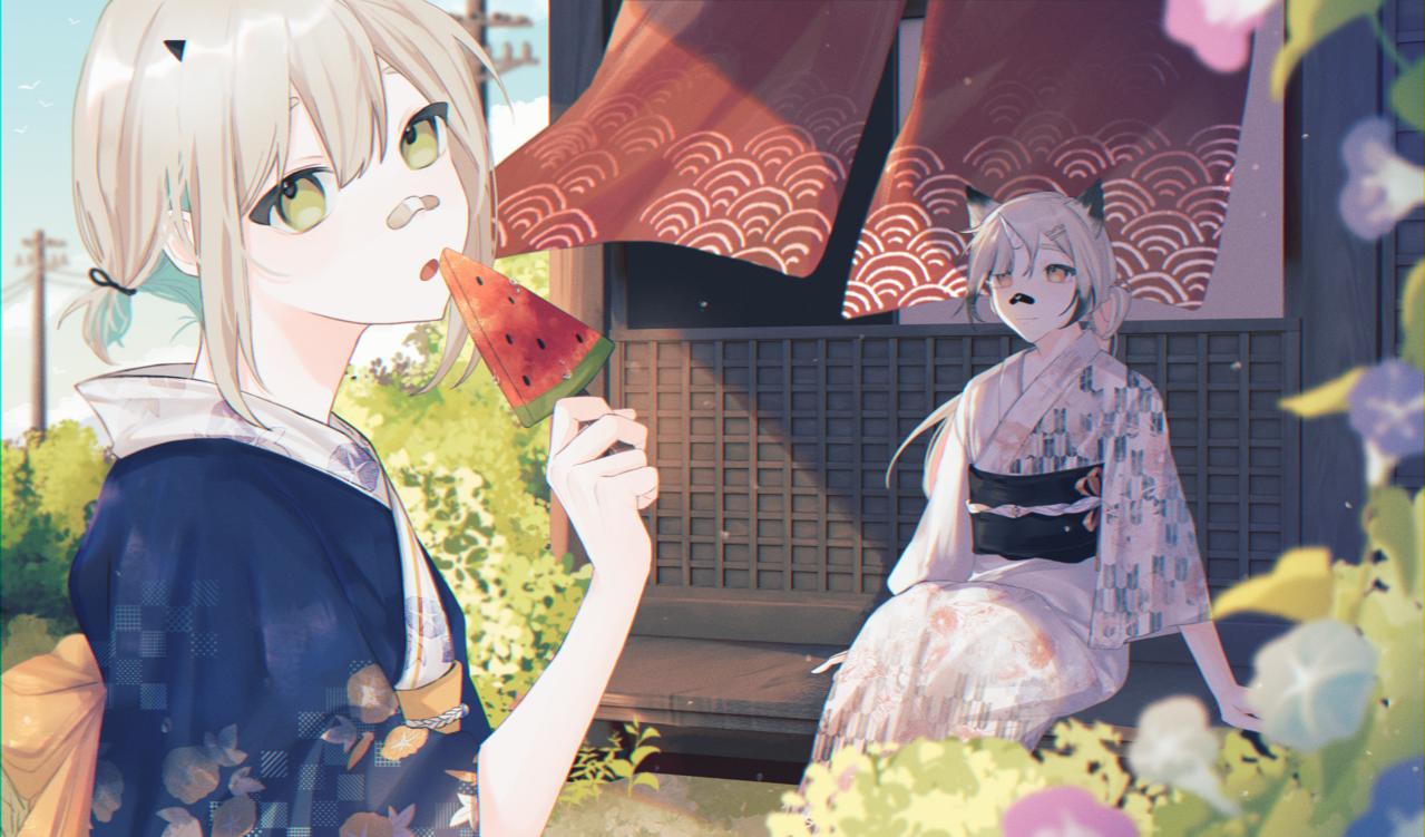夏 Illust of 六六 September2021_Girl yukata girl summer