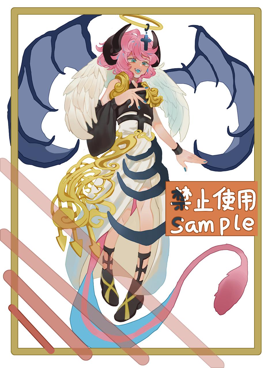 是稿子) Illust of Zero medibangpaint girl wings tail