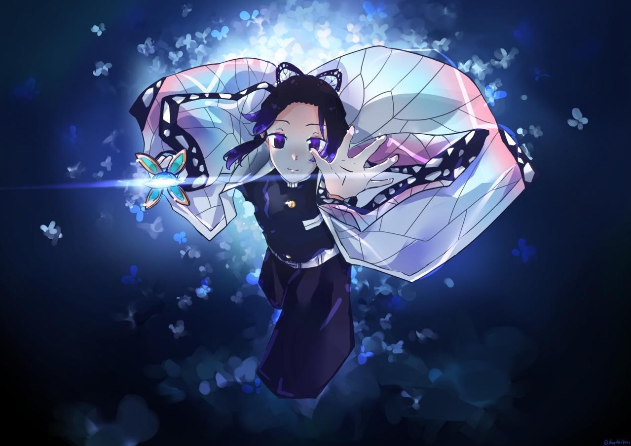 蝶之舞。戲弄。 Illust of 白魚一條 DemonSlayerFanartContest KimetsunoYaiba KochoKanae