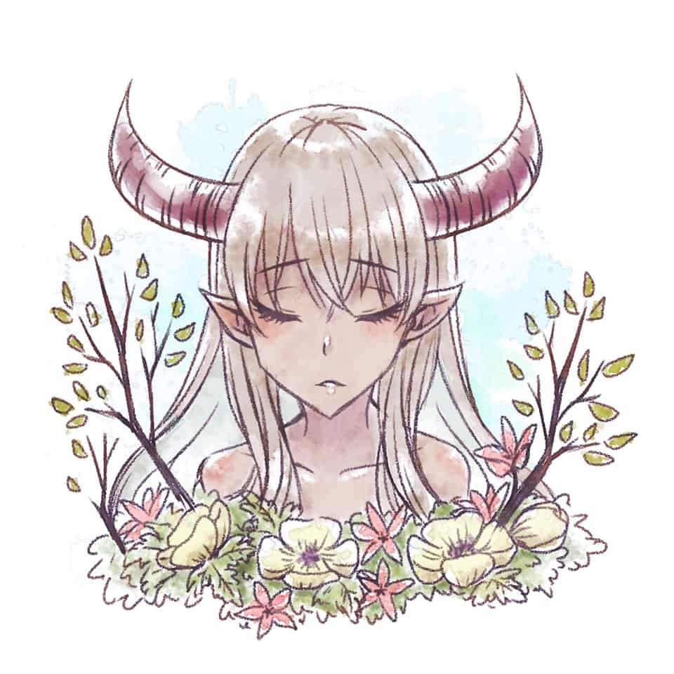 Illust of 如月にろ flower girl original