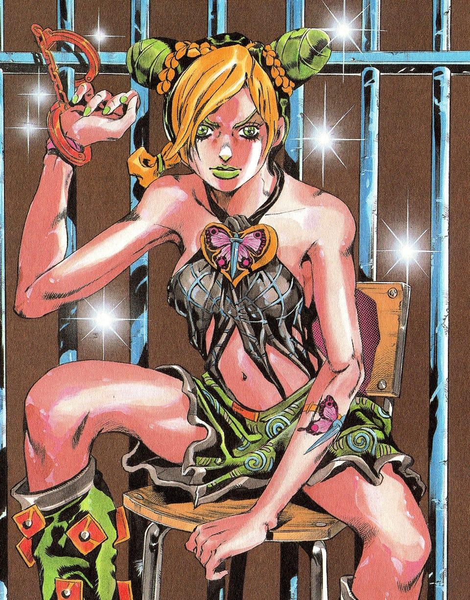 Jolyne panel redraw  Illust of Creampuffu ☹ै greeneyes StoneOcean fanart animefanart aesthetic digital anime jolynecujoh ibispaint JOJO'S_BIZARRE_ADVENTURE