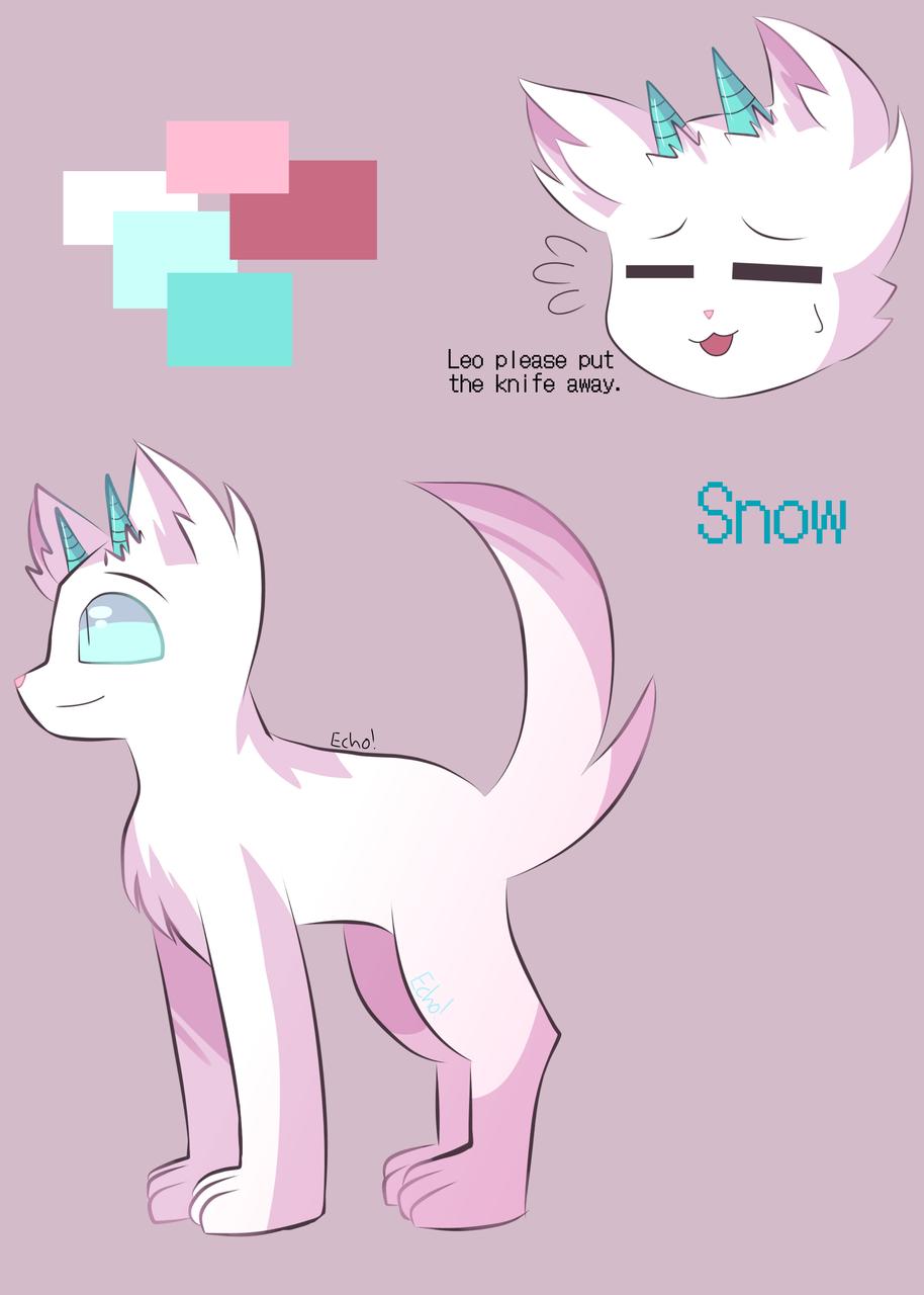 Snow character ref! (new oc)  Illust of Something random medibangpaint somerandomgenius art&oc echo!