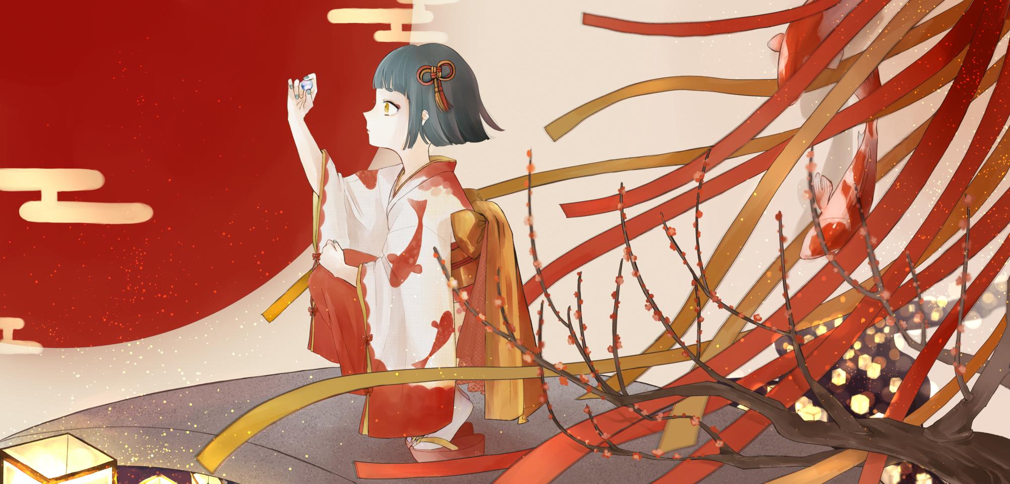 彼岸の落し物。 Illust of ユタ Kyoto_Award2020_illustration Japanese_style girl