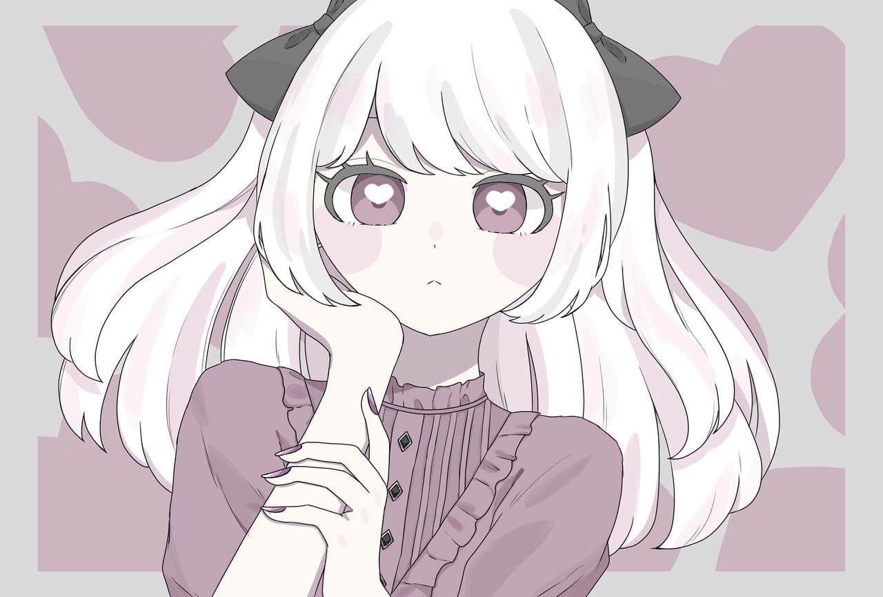 きみに夢中 Illust of mimei September2021_Girl original girl white pink