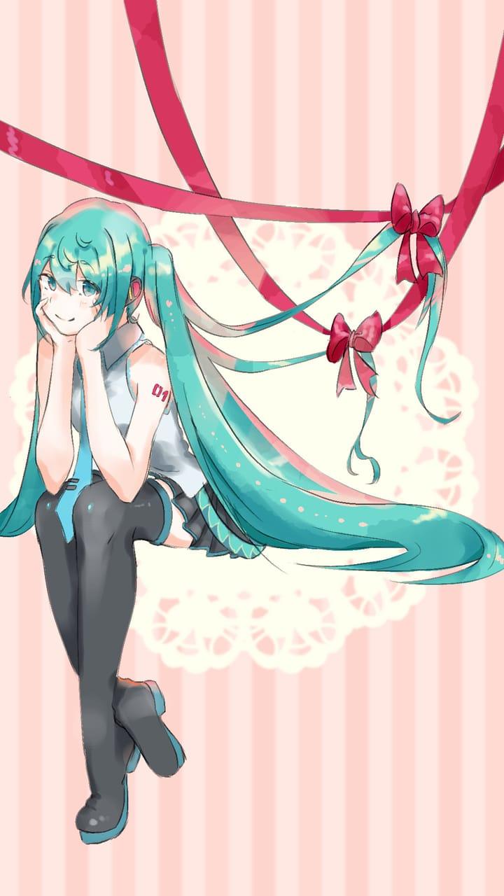 初音ミク Illust of 夏砂 twin_ponytails virtual_YouTuber hatsunemiku