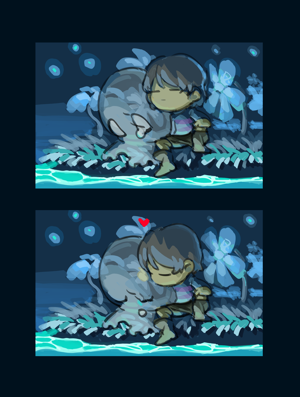 *WILL YOU KISS A GHOST? Illust of ArsenicTheAcid undertale