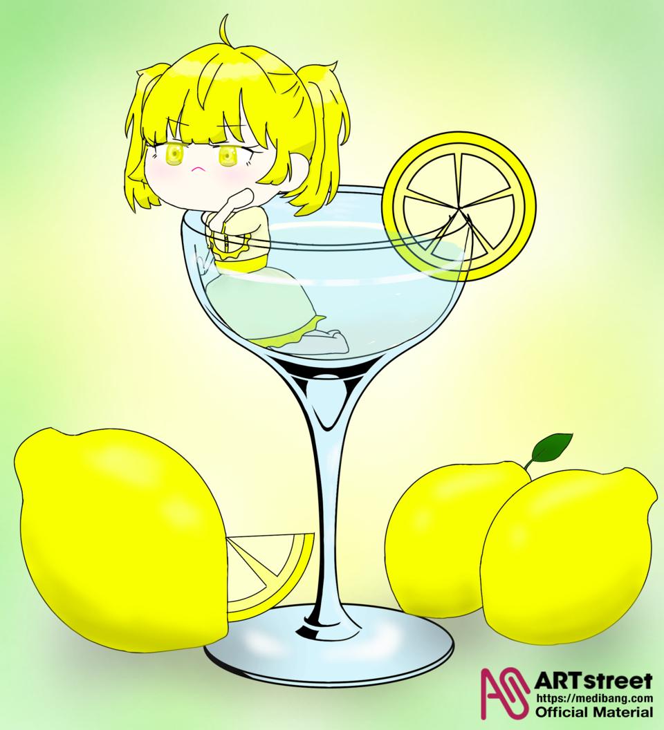 🍋🍸🍋 Illust of 💜셴뮤🌌 April.2020Contest:Color medibangpaint drink takoyaki green 🍸 lemon yellow 🍋 cocktail