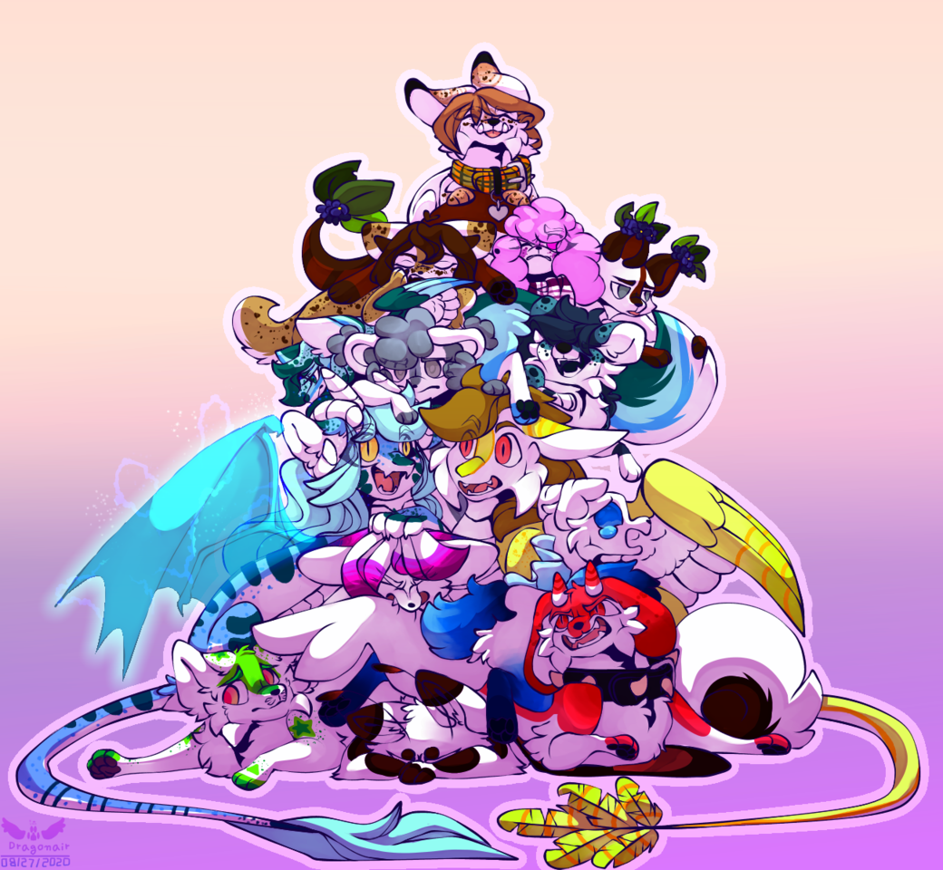 Dog Pile  Illust of Kdragonair medibangpaint animal cute