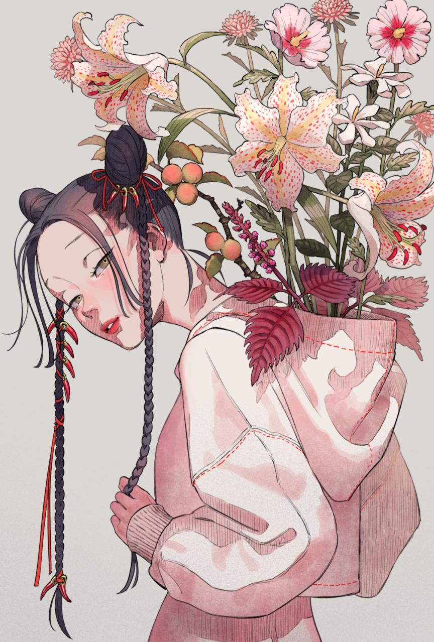 郷愁 Illust of memenchi flower girl original